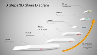 3D Stairs Diagram PowerPoint Business Templates