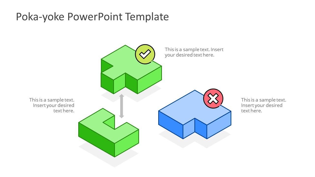 PowerPoint Puzzle Shape Diagram Template