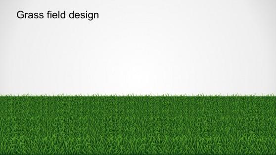 Grass Field Pathway PowerPoint Design Template