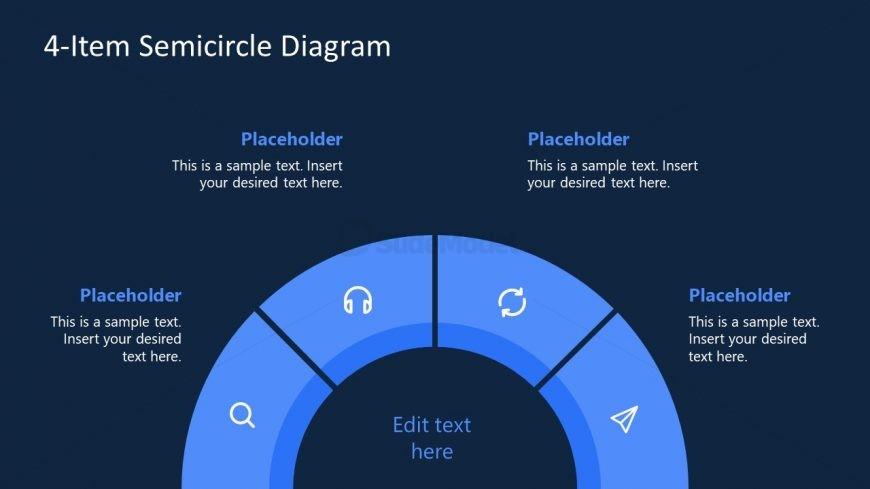 Business Presentation of Semi-Circle Diagram