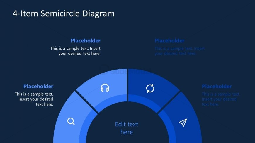 PowerPoint Semicircle Diagram Template