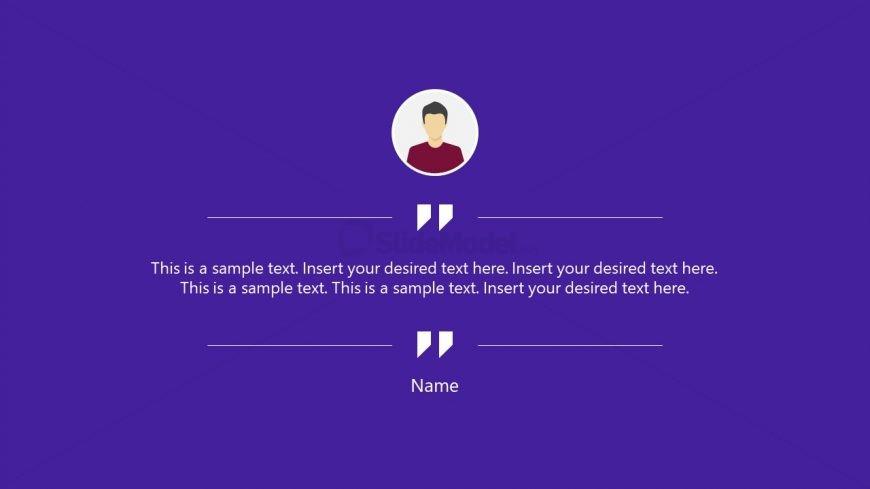 Simple Message Template Design