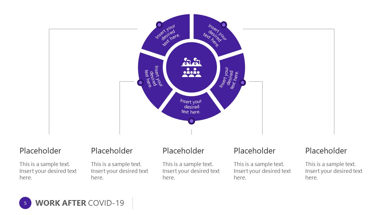 COVID-19 Pandemic 5 Steps Diagram