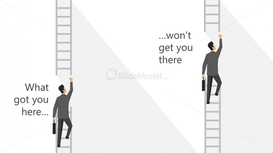 Two Ladders User Climbing PPT