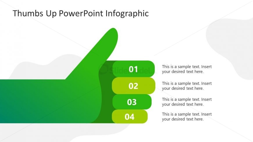 PowerPoint Thumbs Up Diagram Design
