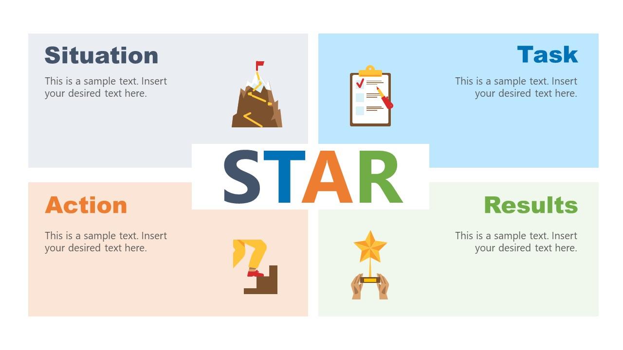 STAR Technique PowerPoint Diagram