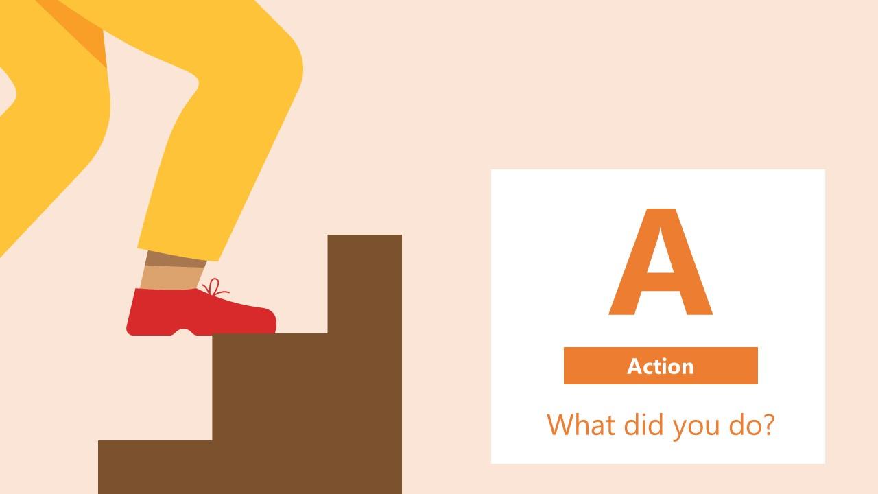 PowerPoint Diagram Action STAR Technique