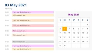 Template of Hourly Calendar Template