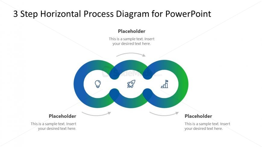 Circular Diagram 3 Steps PowerPoint