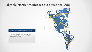Editable Map Template North South America