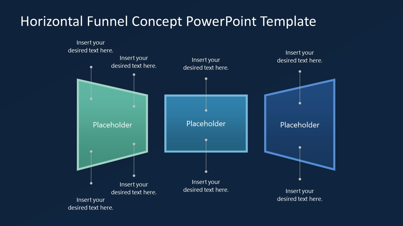 3 Steps Polygonal Funnel Template