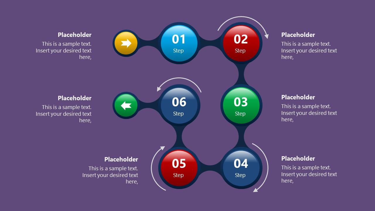 Color Background for 6 Steps Fluid Process
