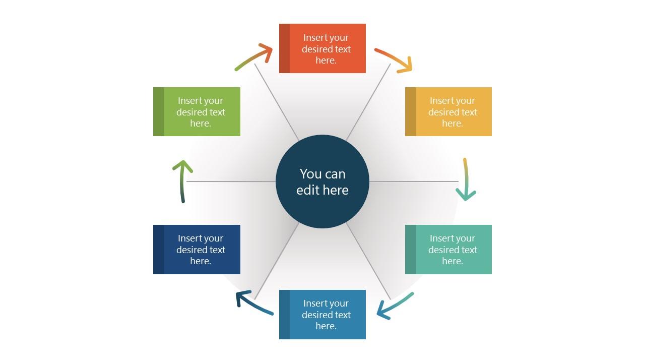 Wheel PowerPoint Template Diagram