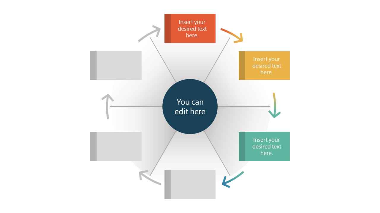 PowerPoint Diagram Design of Wheel