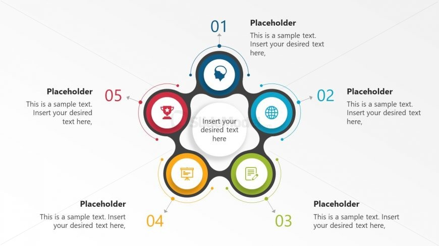 PPT Infographic 5 Steps Diagram