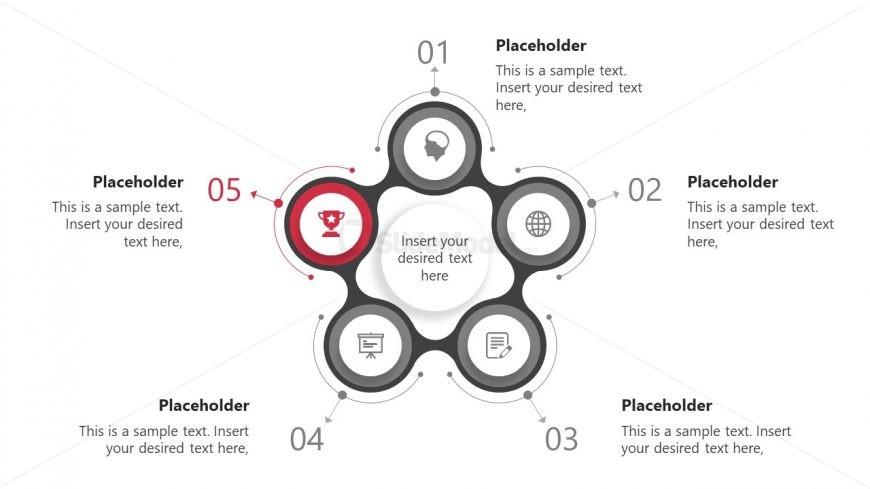 Flat Infographic PowerPoint Diagram
