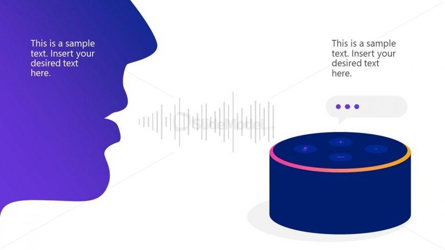 Editable Voice Assistant PowerPoint Slide