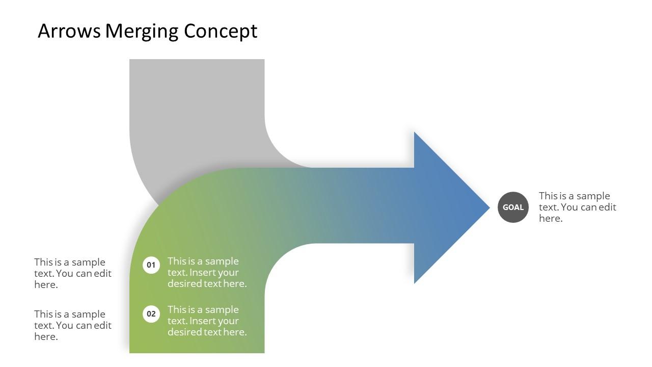 PPT Merging Arrows Concept Design