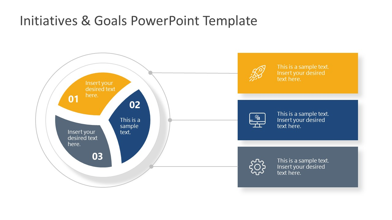 Initiatives and Goals PowerPoint Diagram