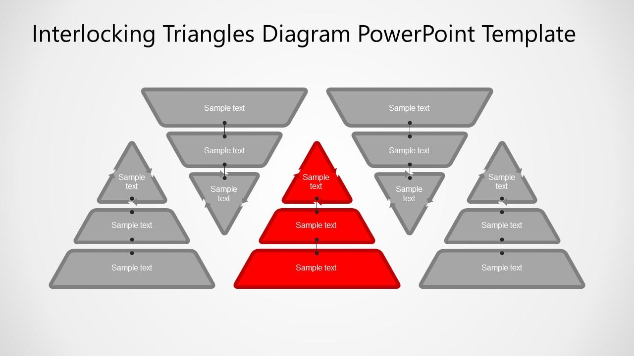 5 Steps Pyramids PowerPoint
