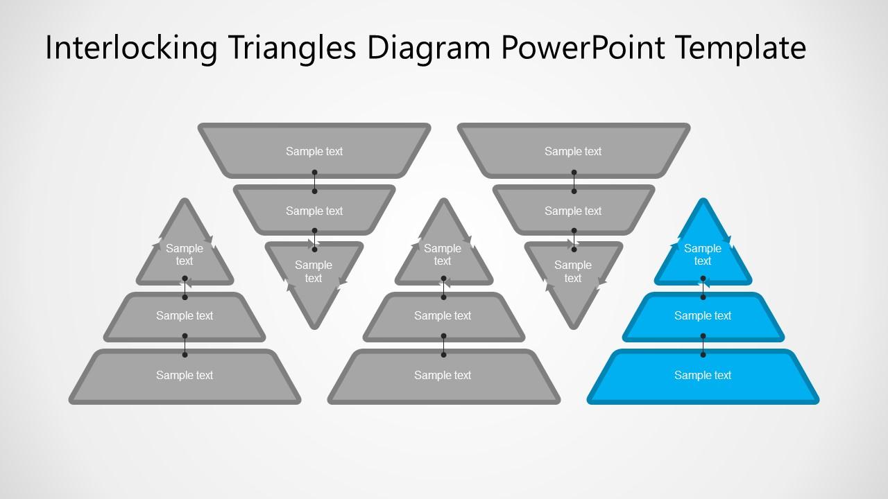 Slides of Interlocking Triangles