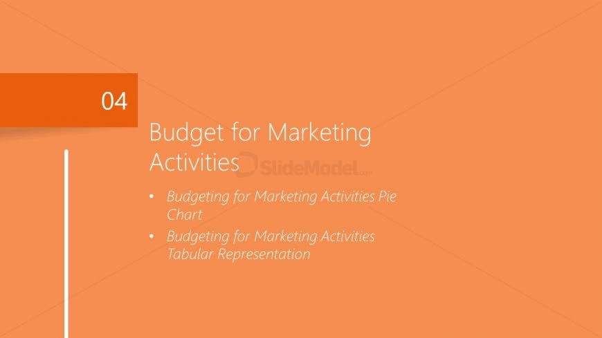 Budget Activities Template for Marketing