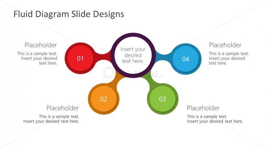 4 Steps Fluid Design Diagram Template