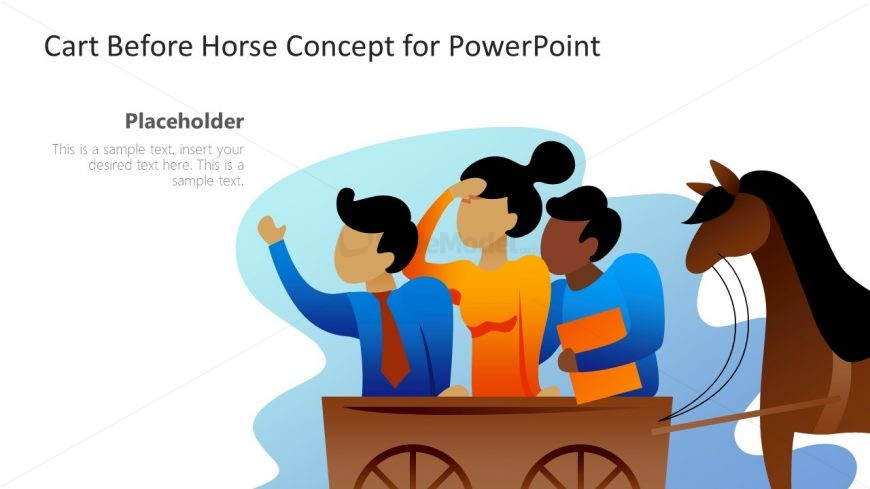 PowerPoint Visual Representation of Horse and Cart