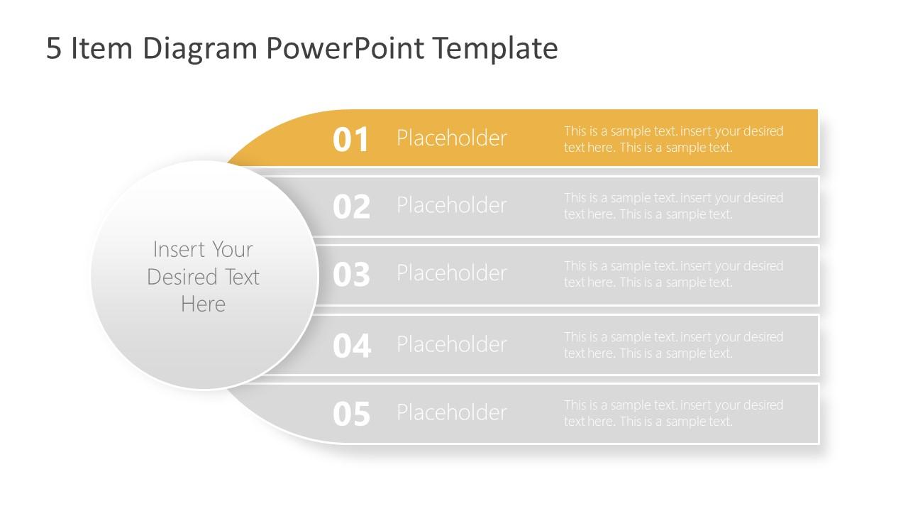 Diagram of 5 Items Agenda