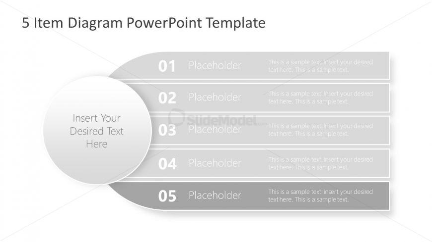 Presentation of 5 Items Diagram