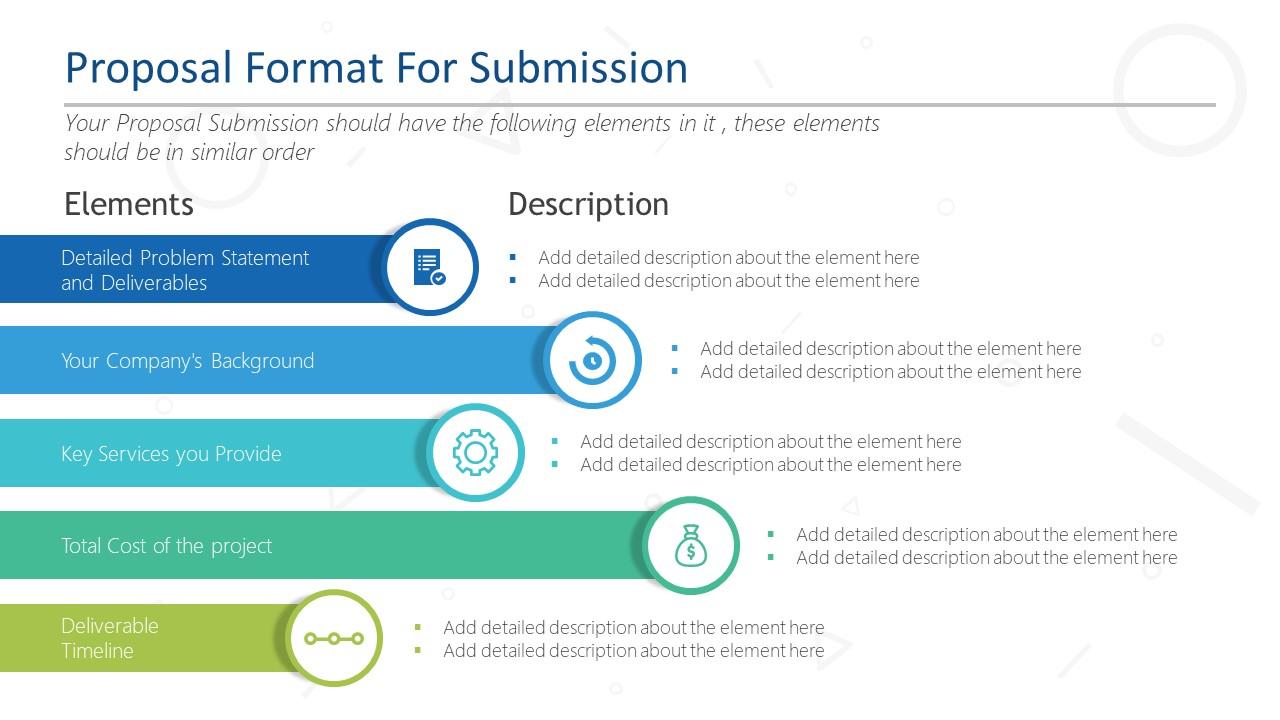 5 Steps Proposal Format Slide