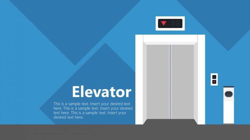 Elevator Lift PowerPoint Shape