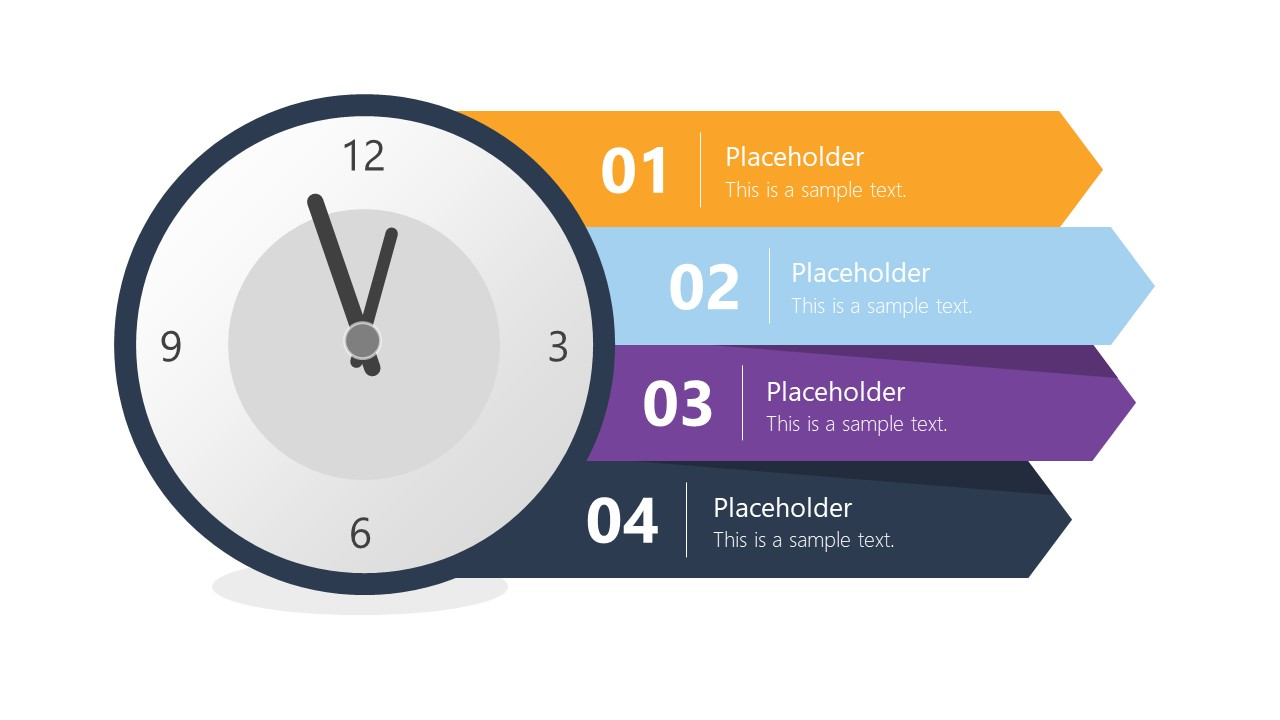 Clock Presentation Agenda PowerPoint