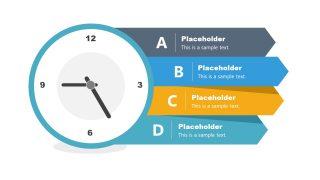Presentation of Analog Clock 4 Steps Diagram