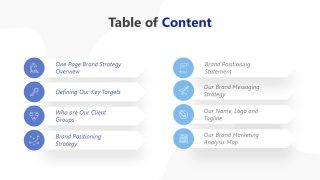 PPT Template for Brand Marketing Contents