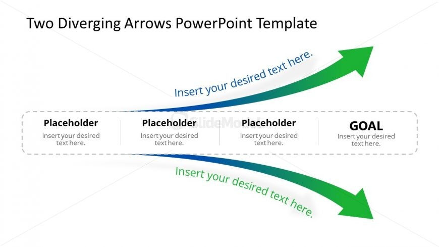 Presentation of Two Diverging Arrows