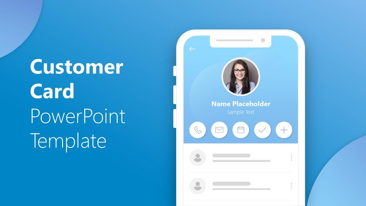 PPT Customer Cards Design UI