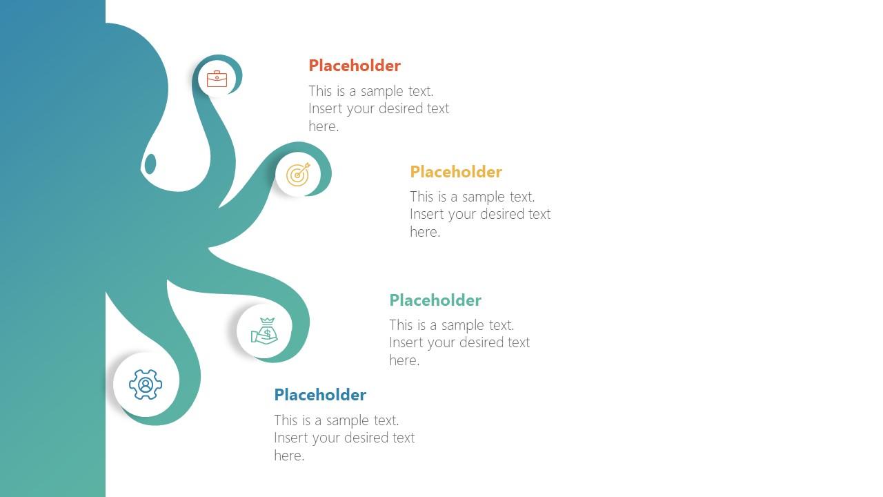 Infographic Octopus PowerPoint Diagram