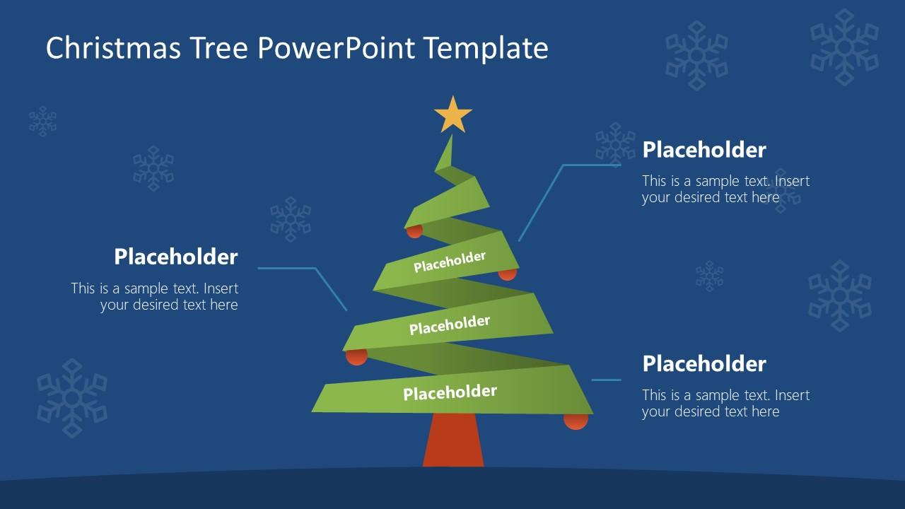 Presentation of Pine Tree for Christmas
