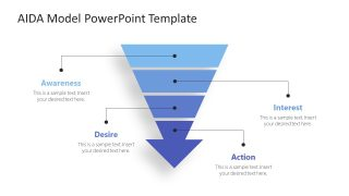 AIDA Funnel Template Diagram