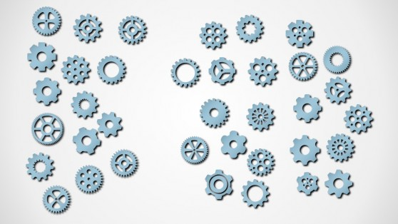 Gear Shapes PowerPoint Vectors