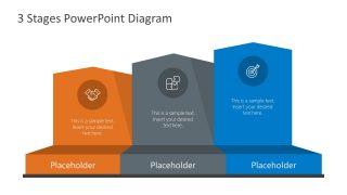 PowerPoint 3 Stage Chevron Arrows