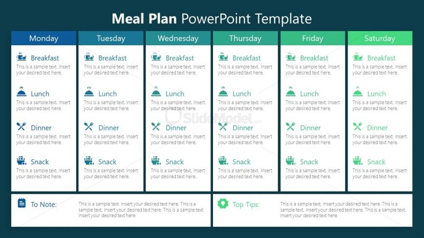 PowerPoint Infographic Meal Plan Template