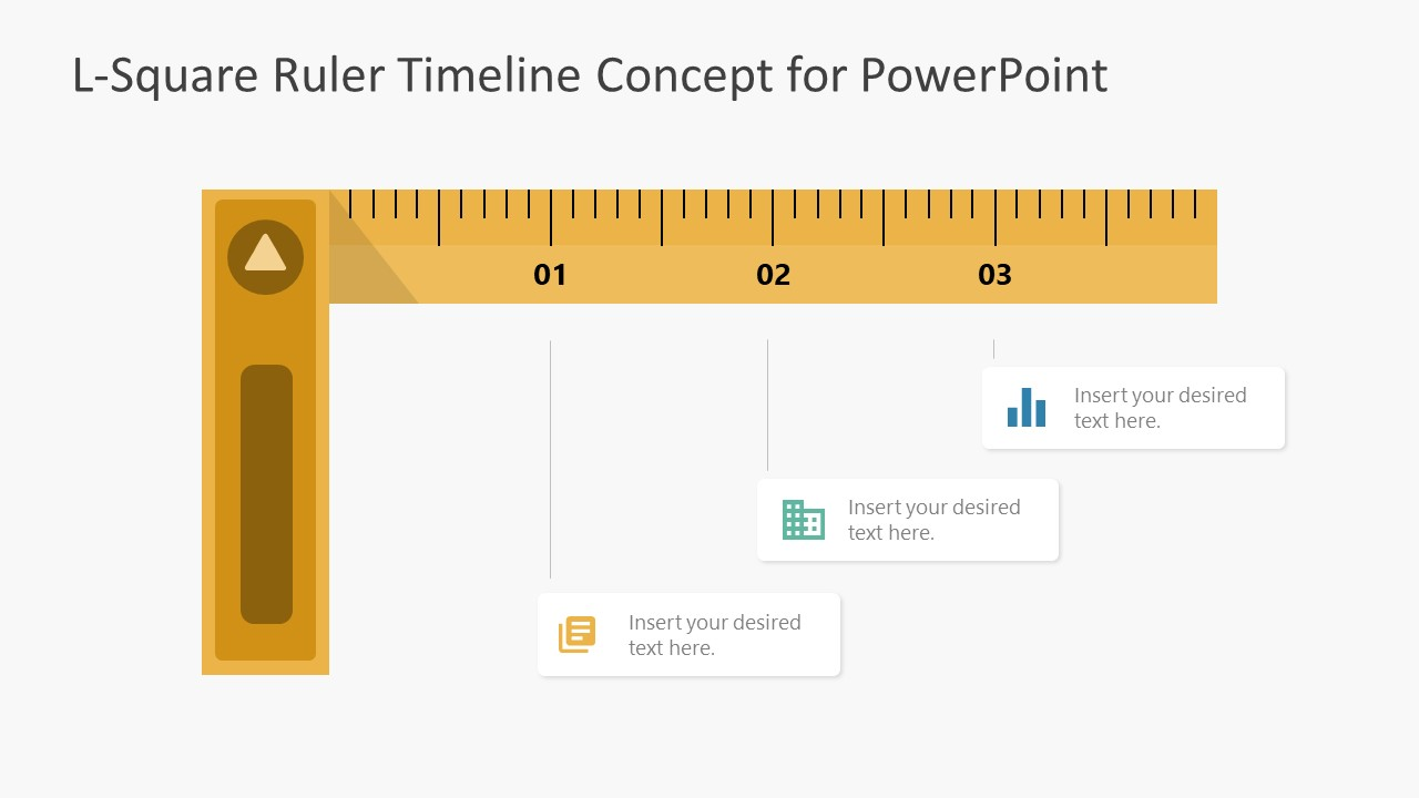 PPT Yellow Ruler Diagram Timeline