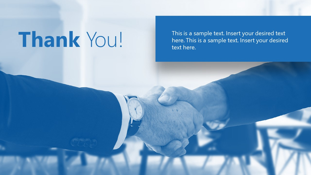 Presentation of Thank You Template
