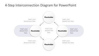 4 Steps Connected Process Diagram Template