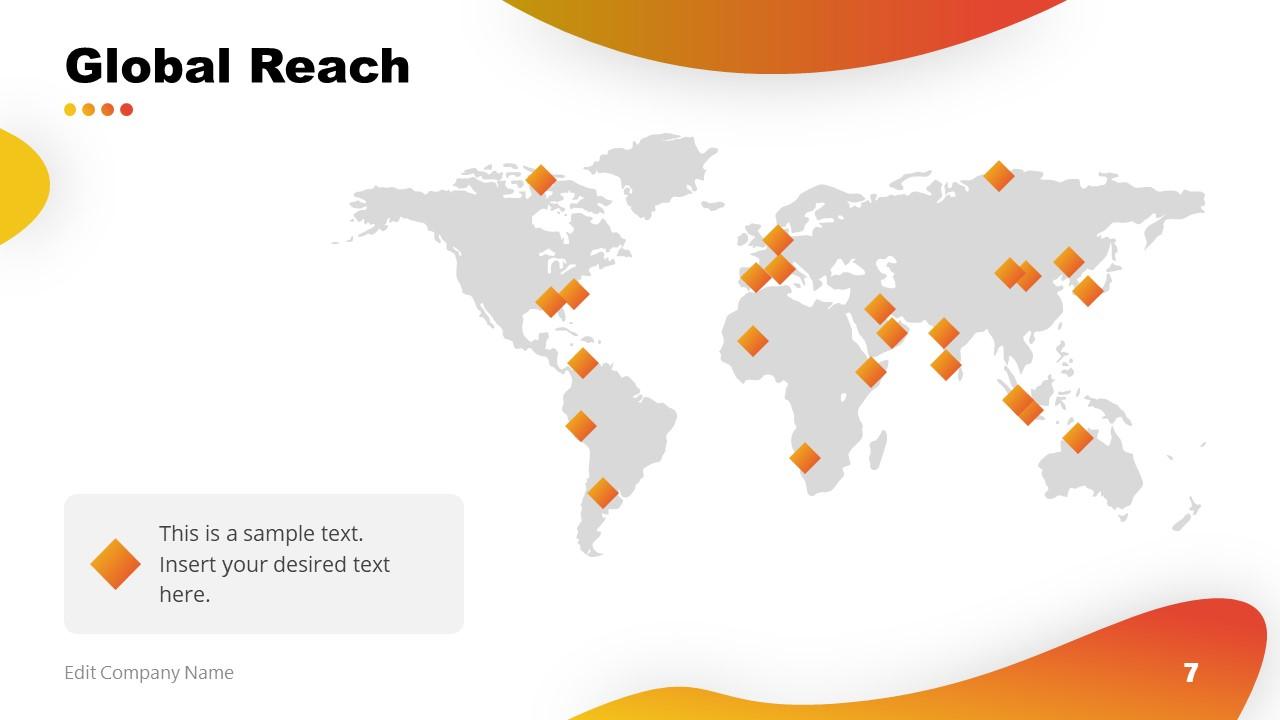 PowerPoint Business Global Reach Template