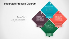 4 Steps Integrated Process Diagram PowerPoint