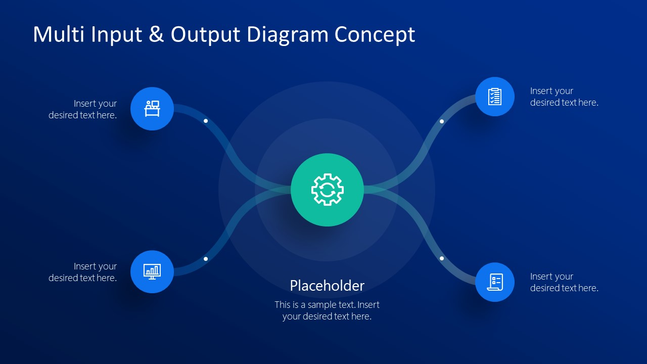 2 Inputs 2 Outputs PowerPoint Diagram Template