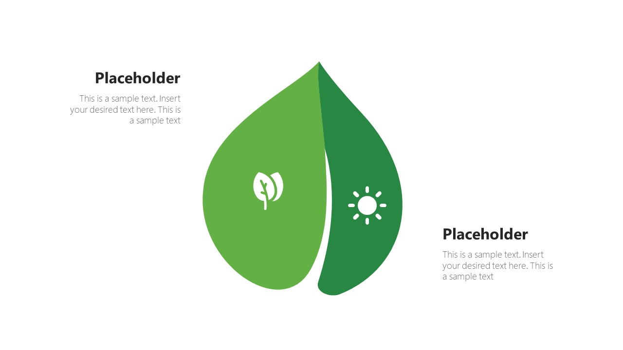 Infographic Diagram of Leaf PowerPoint Shape